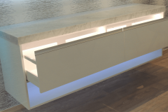 White Gloss with Light in Draws-min